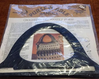 VinTage Handle for a Macrame Purse with Instructions and Letter to Personalize