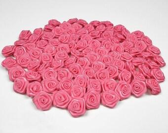 20 heads of 1.50 cm in diameter ref 156 pink satin rose