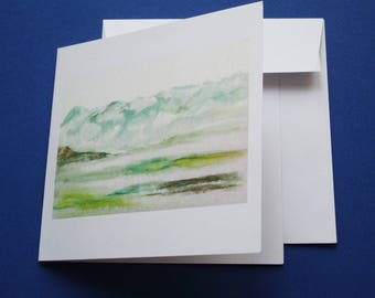 """""""The Majesty of the mountains"""" card with envelope."""