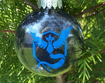 Team Mystic Pokemon Go Parody Christmas Holiday Ornament  * Add Year and/or Name for FREE to back  * Choice of Colors * Articuno * Blanche