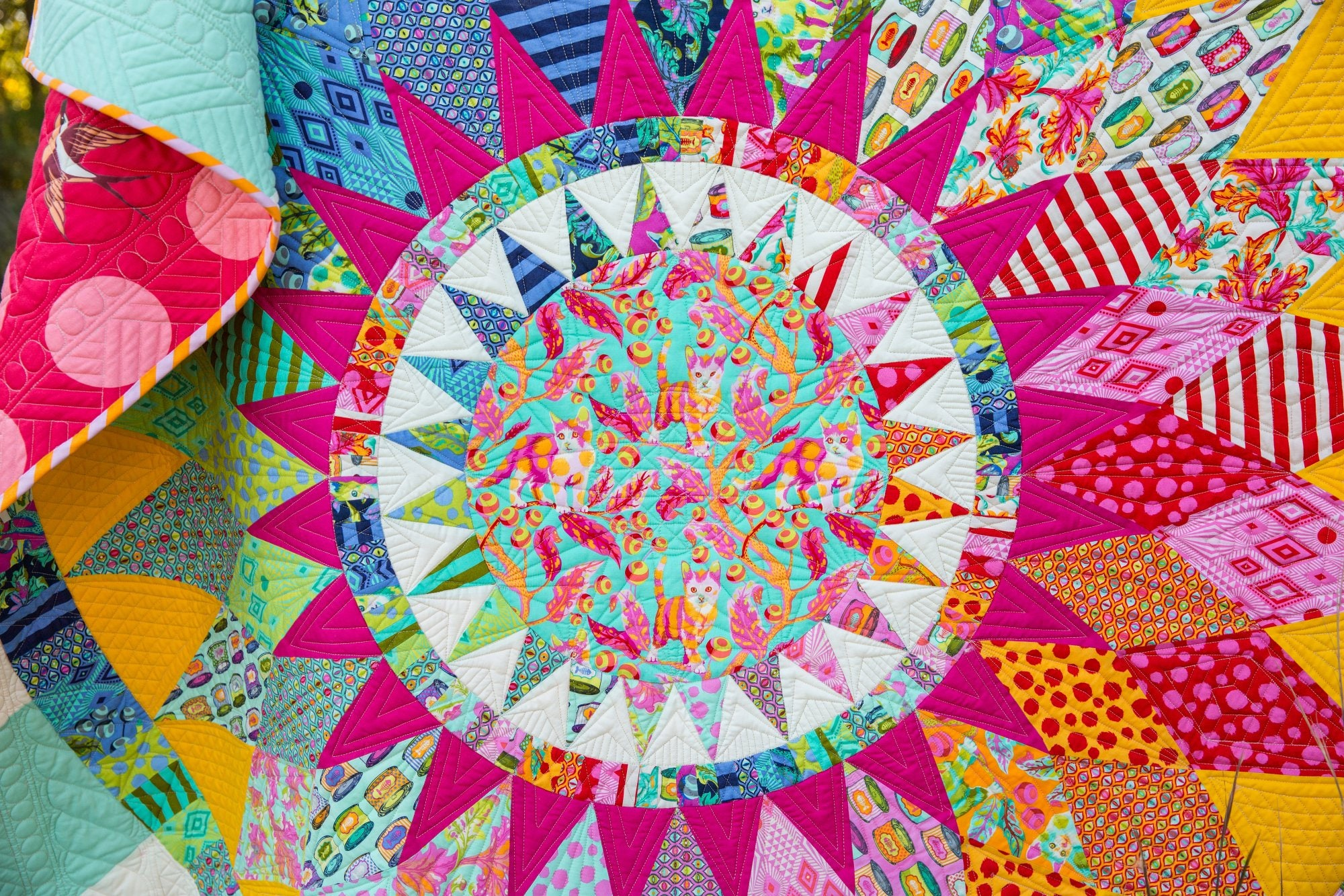 Catnip Quilt Kit featuring Tabby Road by Tula Pink