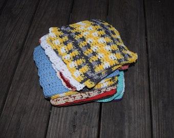 Crochet Washcloth, Crochet Dishcloth, Crochet Kitchen Dishcloth - Ready to Ship
