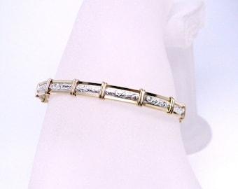 Made-To-Order Pure Elegance 14kt gold fill and sterling silver Slave Bracelet OR Anklet