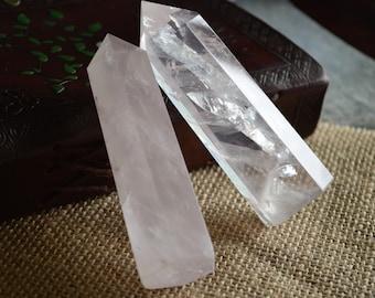 Natural Rose Quartz Crystal Point(s)
