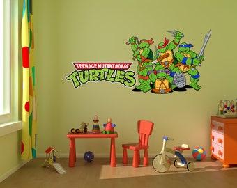 Ninja Turtle Decal Etsy - Ninja turtle wall decals