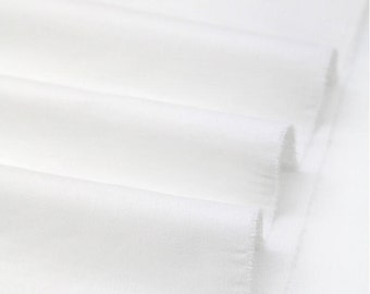 "Cotton Twill Weave Fabric - White - 60"" Wide - By the Yard 45704"