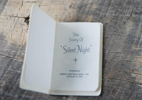 Vintage the story of silent night gibson greeting cards vintage the story of silent night gibson greeting cards miniature booklet m4hsunfo Choice Image