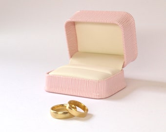 Pink Ring Box Wedding, Ring Gift Box, Cufflink Box, Pink Jewellery Box, Cufflink Gift Box, Double Ring Box, Wedding Ring Holder