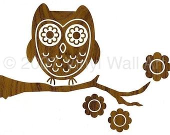 Vinyl Wall Art Decal Wood Owl SMALL