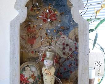 Holiday Snowman Niche Box-Sold