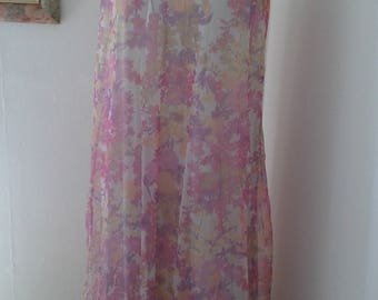 1960s brilliantly coloured nightdress.