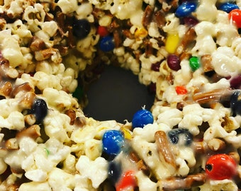 Marshmallow popcorn treat bundt cake