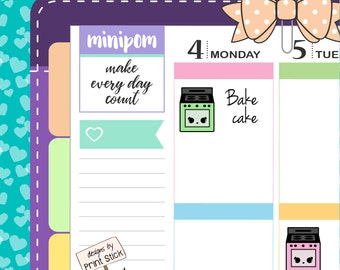 Oven Planner Stickers - Kawaii Cooking Stickers for your Erin Condren, Happy Planner & any other planner!