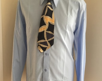 Mens spearpoint shirt double cuff