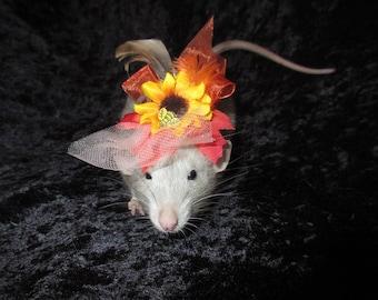 Sunflower Fancy Rat Hat