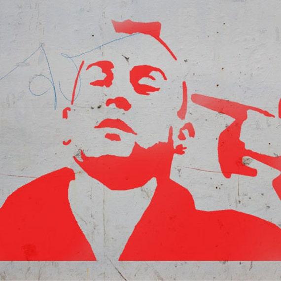 Plantilla de conductor de taxi de niro stencil arte