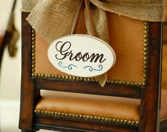 Wedding Groom Sign Engraved Wood Plaque