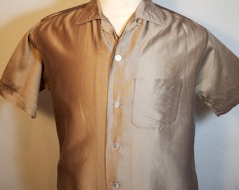 FREE  SHIPPING  Vintage 1950 Men Iridescent Shirt