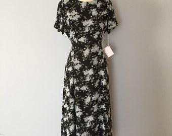 BLUE WILDFLOWERS maxi dress | pale blue flowers and vines print dress | tie back bow maxi dress