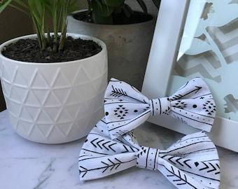 Black On White Bow Tie