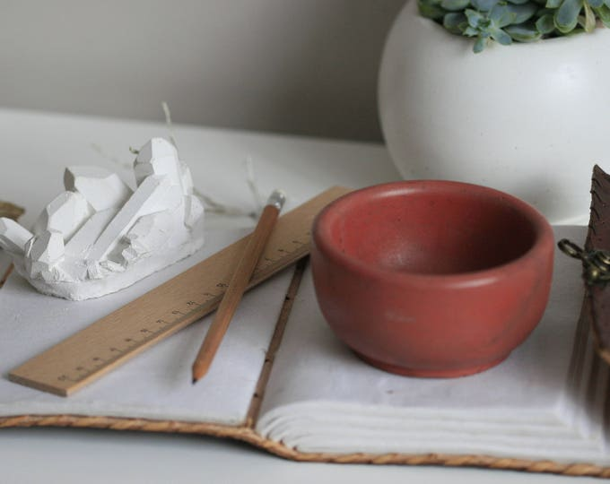 Small Round Concrete Decorative Bowl | Planter | Candleholder | Display | Urban | Industrial