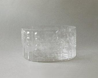 Nuutajarvi Finland Flora Large Glass Bowl Vase Oiva Toikka