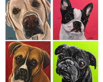 Custom Dog portrait, custom dog portrait, custom pet painting, custom pet portrait, custom dog painting