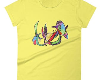 Abstract Dinosaur - TShirt - Womens