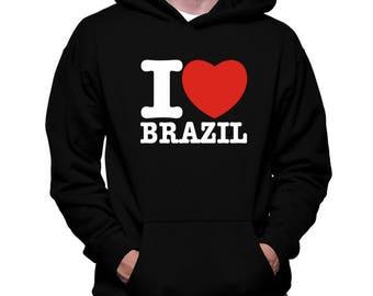 I Love Brazil Hoodie