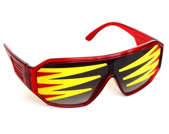 Rasslor Side Spikes Shield Sunglasses