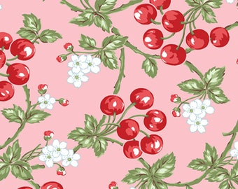 Benartex - Simply Chic - Cherries Pink by Anna Stuart