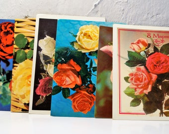 6 open postcards. vintage. the USSR. Soviet postcards. a gift to him.
