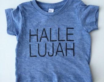 Hallelujah tri blue tshirt, hipster kids clothes, trendy kids clothes, toddler tshirt, hipster baby clothes, kids fashion