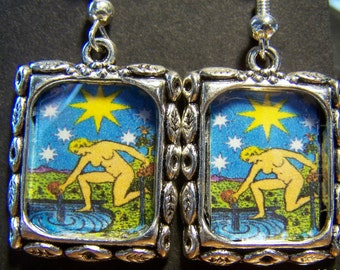 The Star Tarot Card Earrings