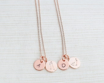 Personalised Rose Gold Zodiac Necklace, Zodiac Jewelry, Initial Necklace, Constellation Necklace, Aquarius, Leo, Pisces, Libra