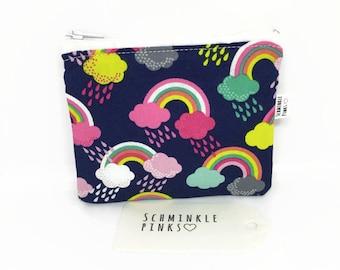 Rainbows Coin Purse, Zipper Pouch, Rainbows Purse, Coin Pouch, Personalised purse, Change Purse, Childs purse