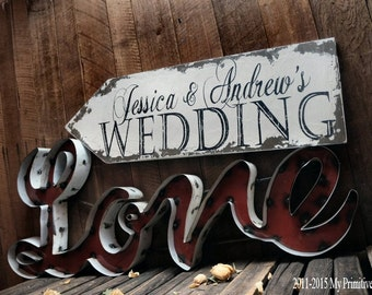 Wedding Arrow Sign. Custom Name Sign. Outdoor Wedding Signs. Wedding Signs. Wedding Ceremony Decor. Distressed Signs. Directional Signs.