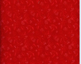 Fabric patchwork red flowers and leaves