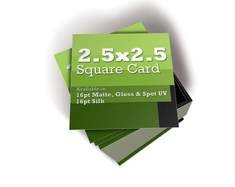 "Set of 500  -  2.5""  x  2.5"" Square Business Cards"