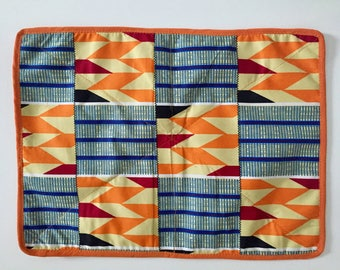 Set of 6 place mats in African fabric