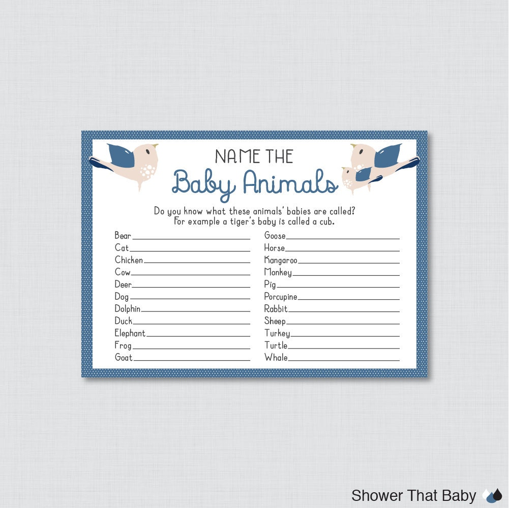 Bird baby animal name game baby shower baby animal name game zoom ptc cofo  Choice Image