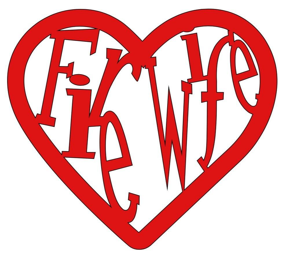 Firewife heart vinyl decal firefighter firelife fire wife zoom buycottarizona Choice Image
