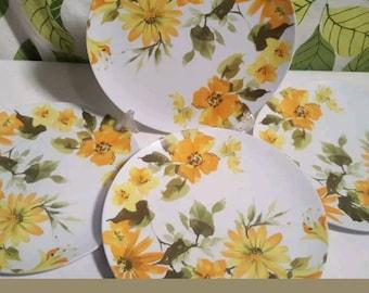 Vintage Texas Ware Yellow Floral Melmac plates