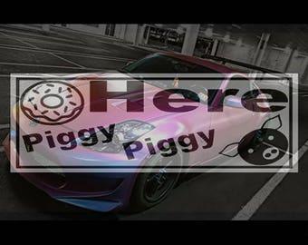 Here Piggy Piggy Faux Slap