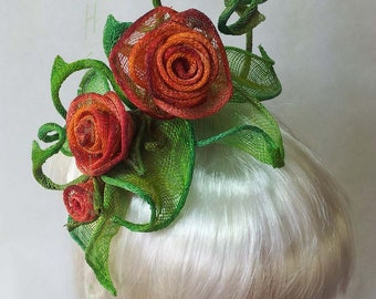 Thorny Rose headpiece One of a kind