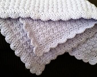 Crochet Baby Blanket, Lavender, Car Seat Blanket, Stroller Blanket