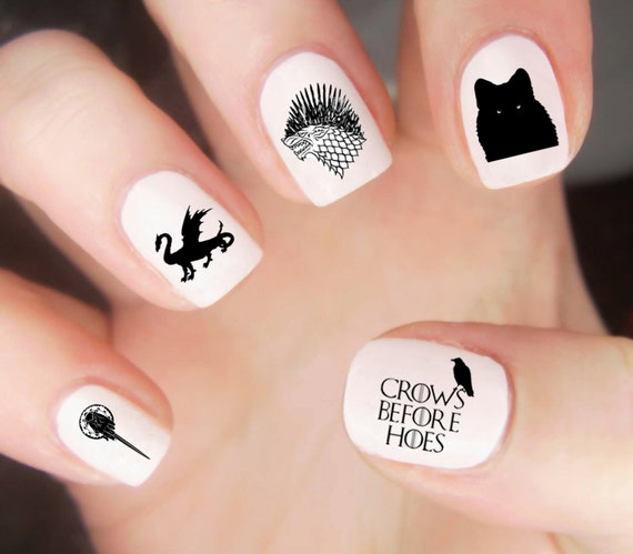 Game of thrones nail decals game of thrones nails game of game of thrones nail decals game of thrones nails game of thrones nail art got tv show nail decals wolf nail decals dragon nails prinsesfo Choice Image