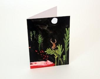 Unusual greetings card - Midnight Beast Attack