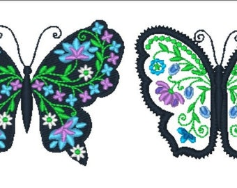 Black Lacy Butterflies