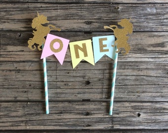 Unicorn Party Cake Topper - First Birthday, Birthday Party, Photo Prop, Unicorn Party